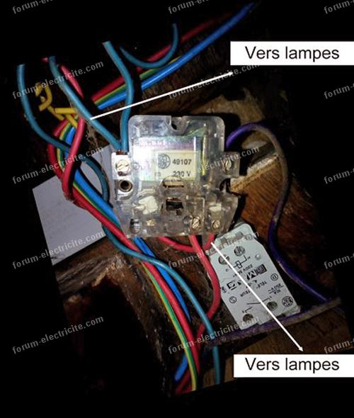 remplacer un télérupteur Legrand 49107 par Finder 26.01