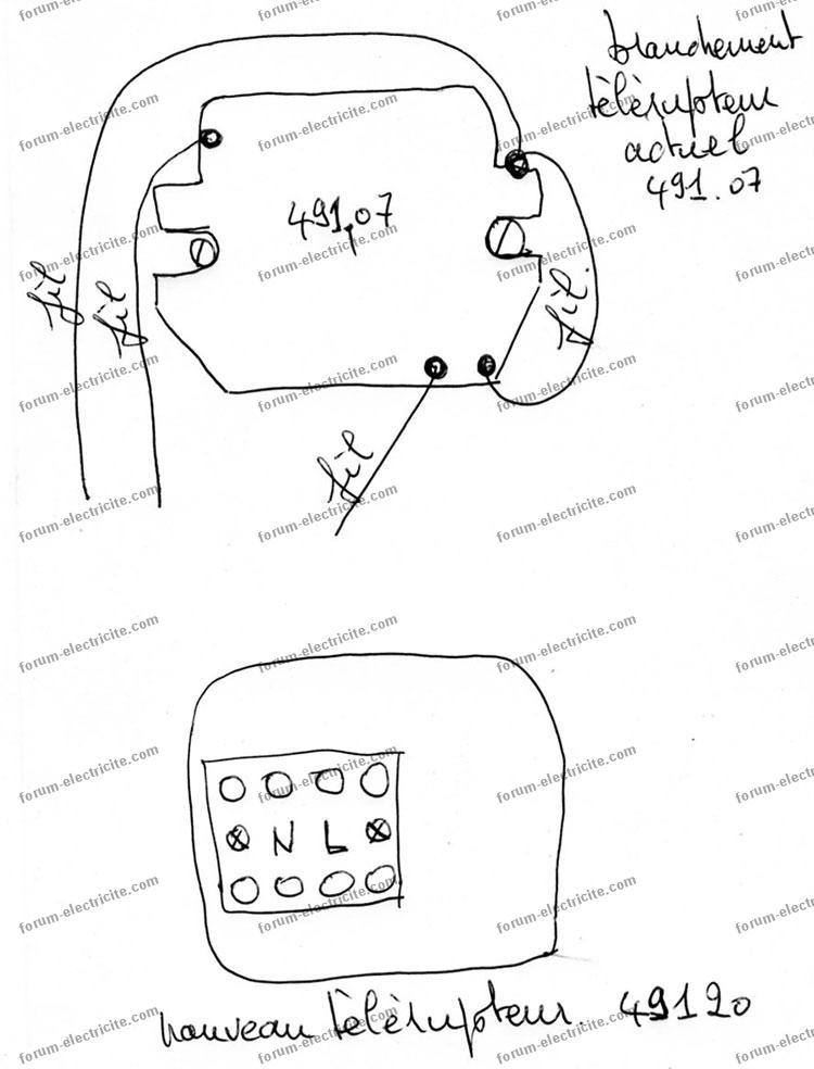 remplacer telerupteur introuvable