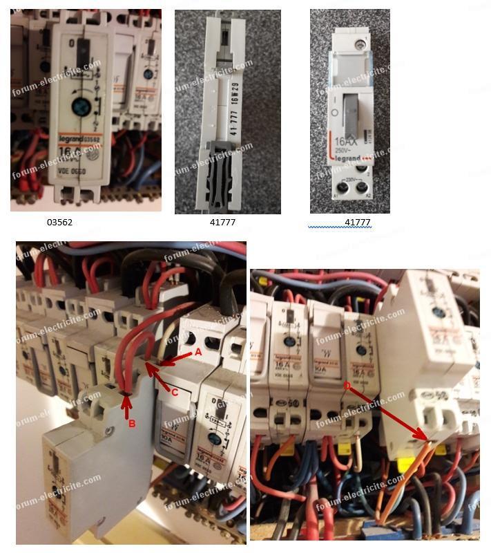 remplacement d'un télérupteur Legrand 03562