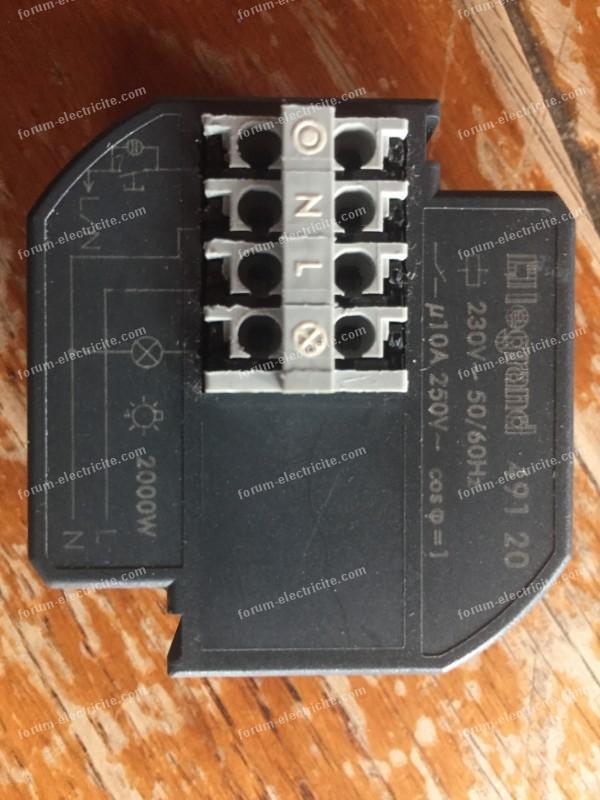 remplacer télérupteur Mang 41157 par Legrand 49120