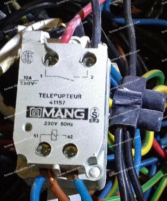 Changement télérupteur Mang