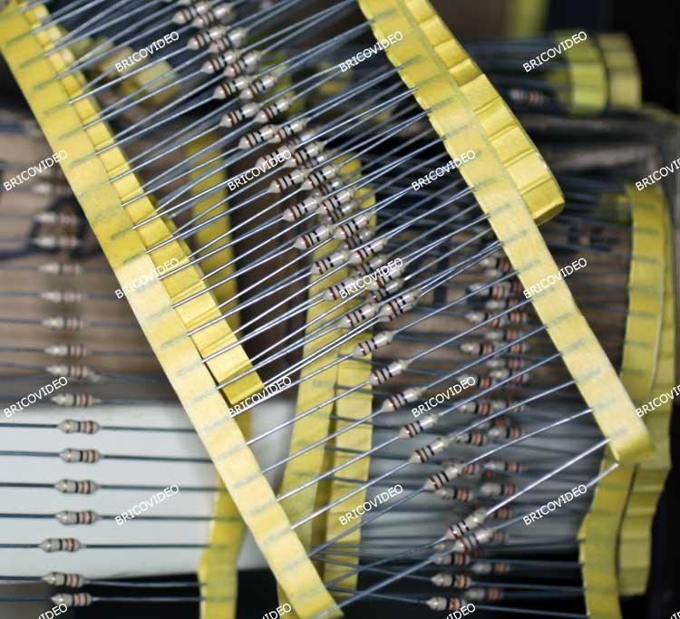 résistances film métallique 1/4 Watts