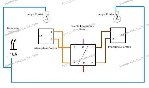 schéma 2 circuits Va et Vient