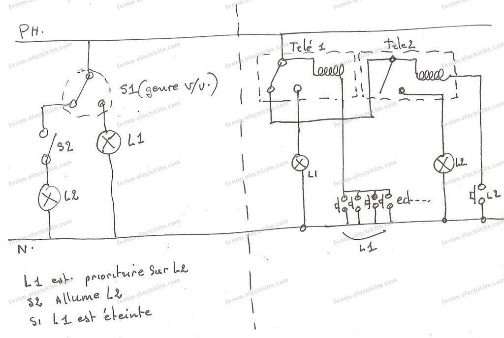 schema 2 interrupteur a memoire