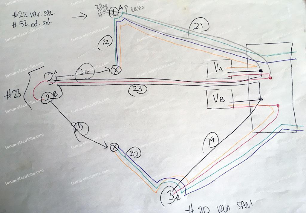 schéma branchement Eco variateur Legrand