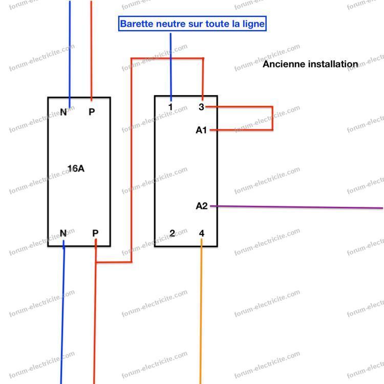 schéma ancienne installation télérupteur