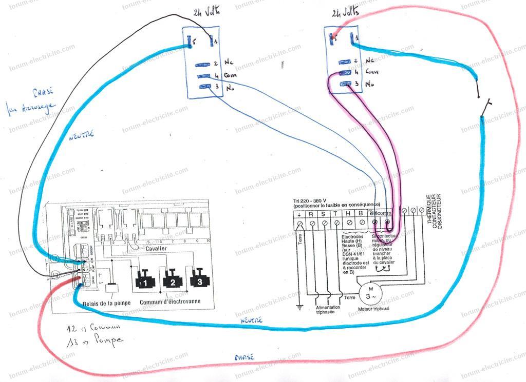 schéma avec deux relais