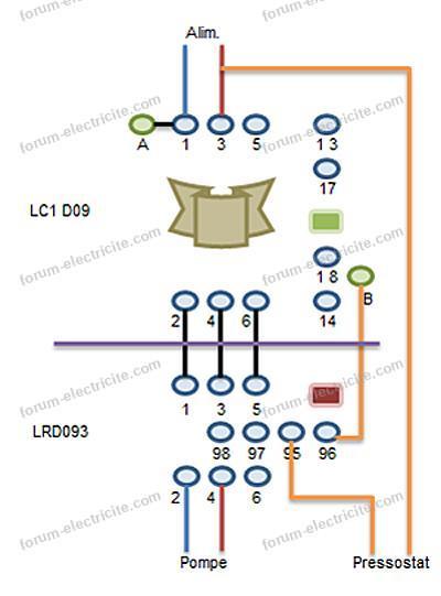 schéma boîtier télémécanique LR1-D09 et LC1-D093