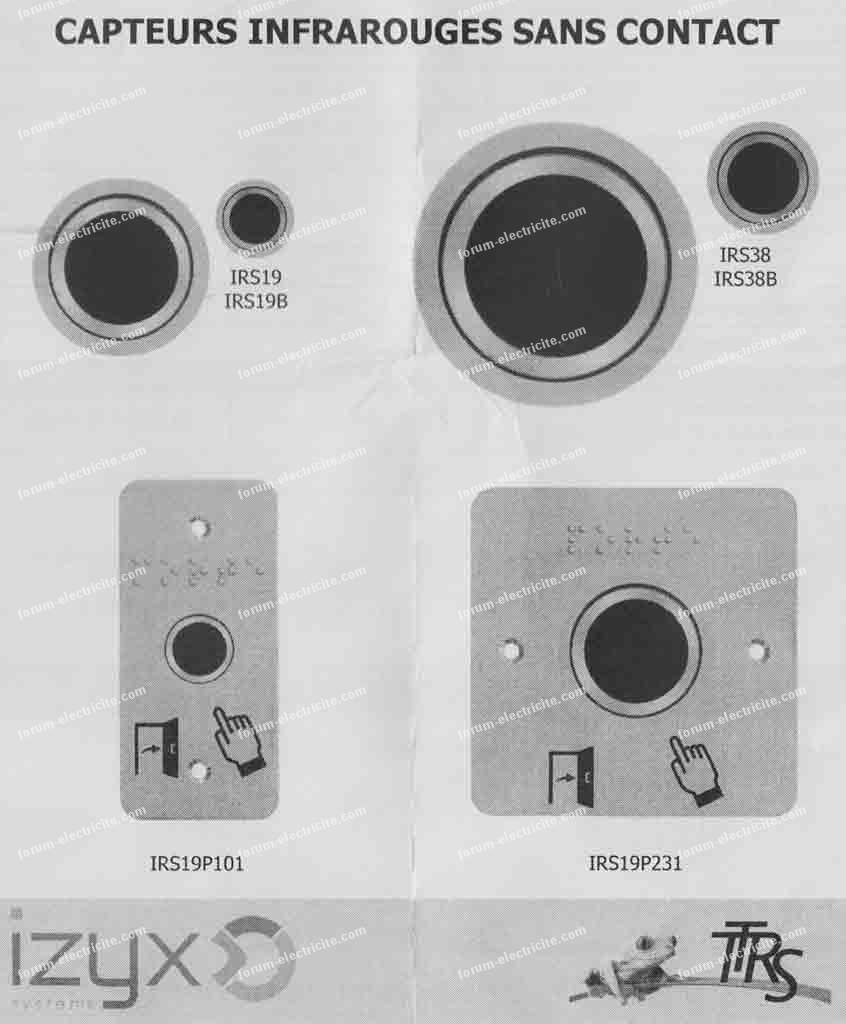 schéma branchement bouton sans conact