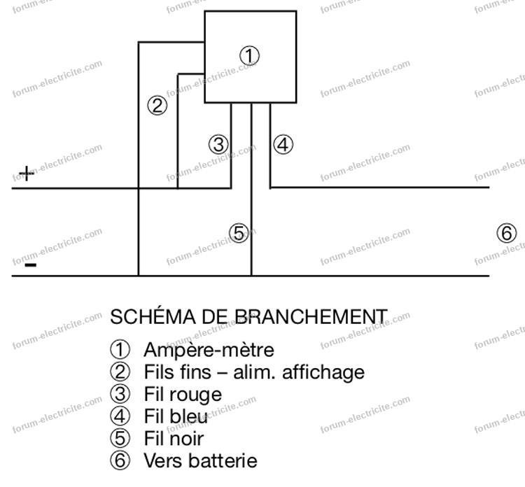 schema branchement amperemetre