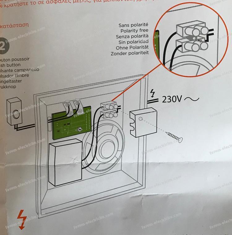 question lectricit conseils branchement carillon elektrobell st99 de scs sentinel. Black Bedroom Furniture Sets. Home Design Ideas