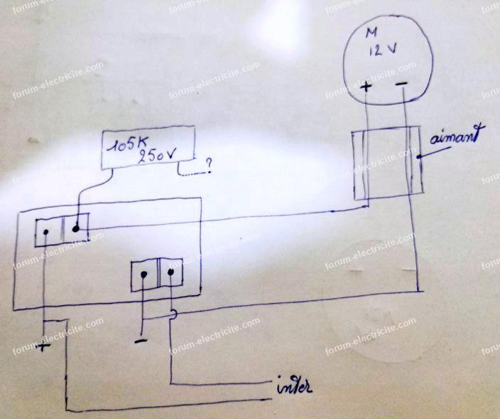 schéma branchement condensateur