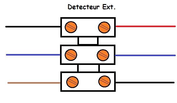 schéma branchement détecteur extérieur