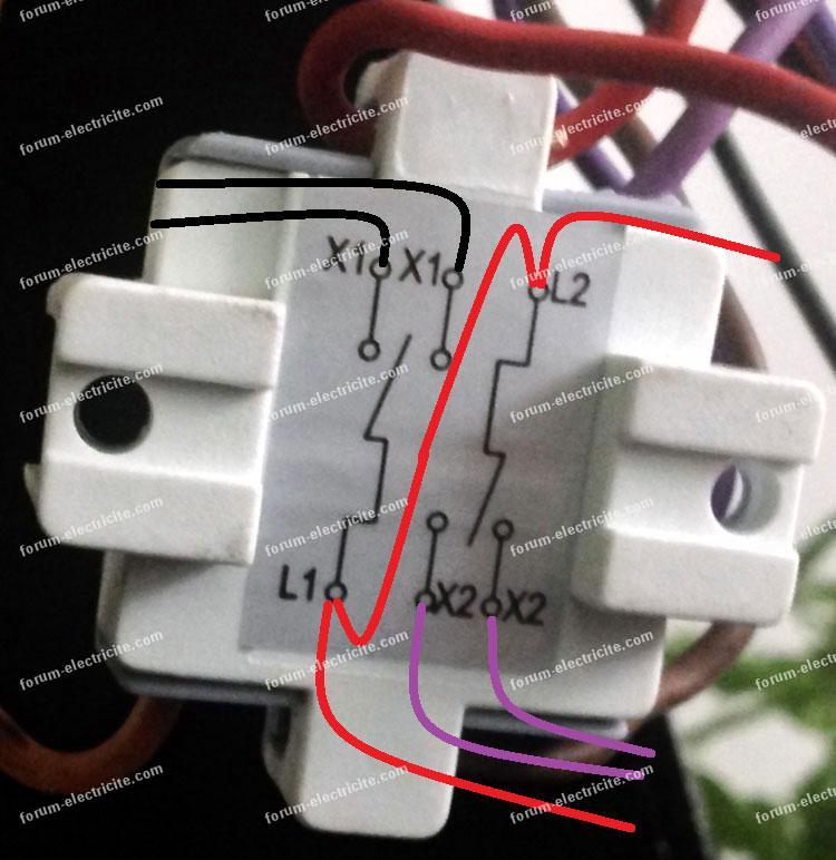 schéma branchement double vv