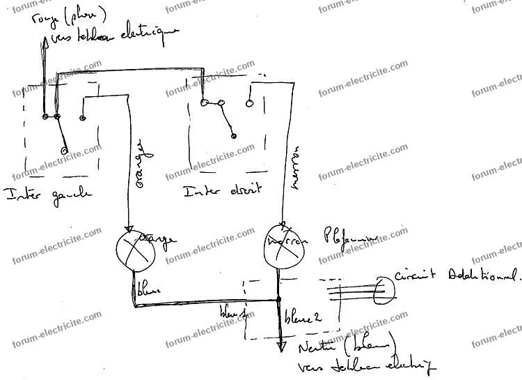 branchement electrique schema