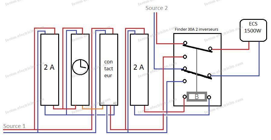 Schéma branchement ECS V6