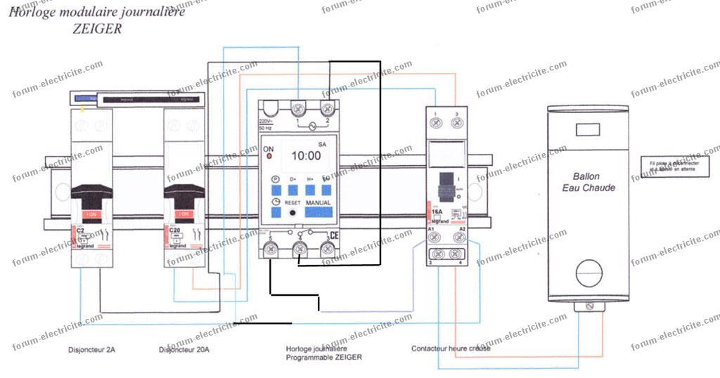 schéma branchement Horloge Zeiger -v02