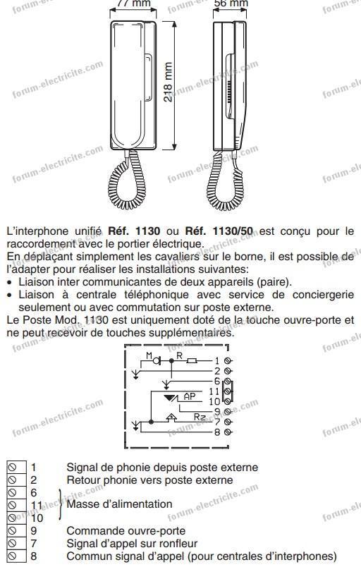 cablage interphone 5 fils terraneo