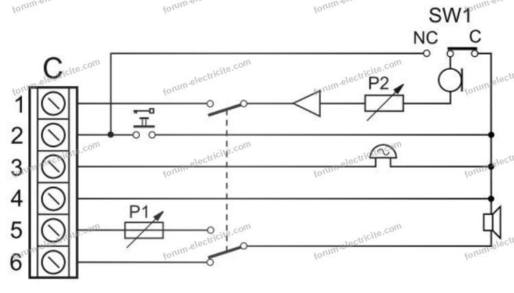 schéma branchement interphone BPT