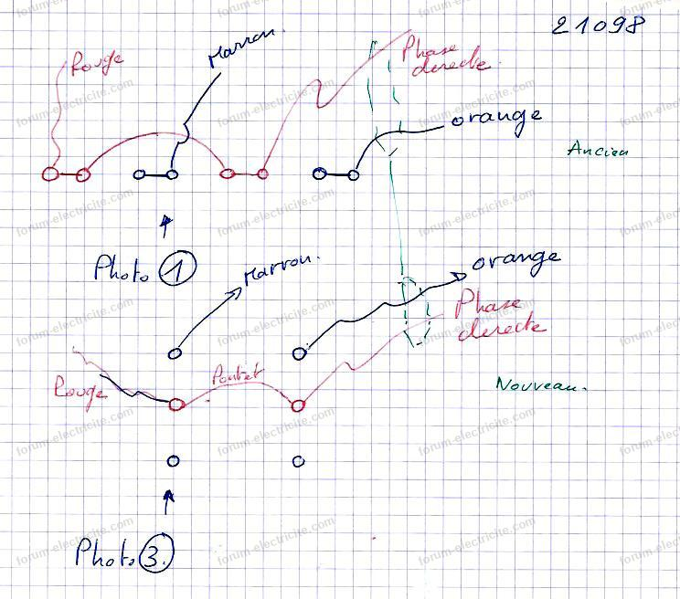 schéma branchement interrupteur double
