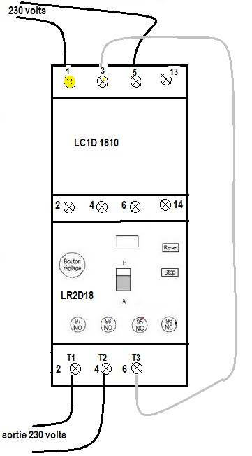 schéma branchement lc1d18