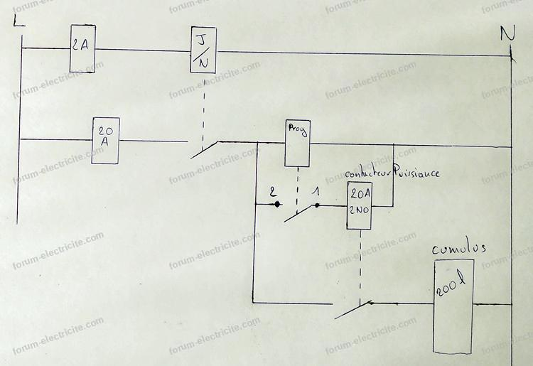 schéma branchement programmateur digital TM610