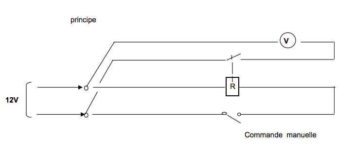 schéma branchement relais Finder