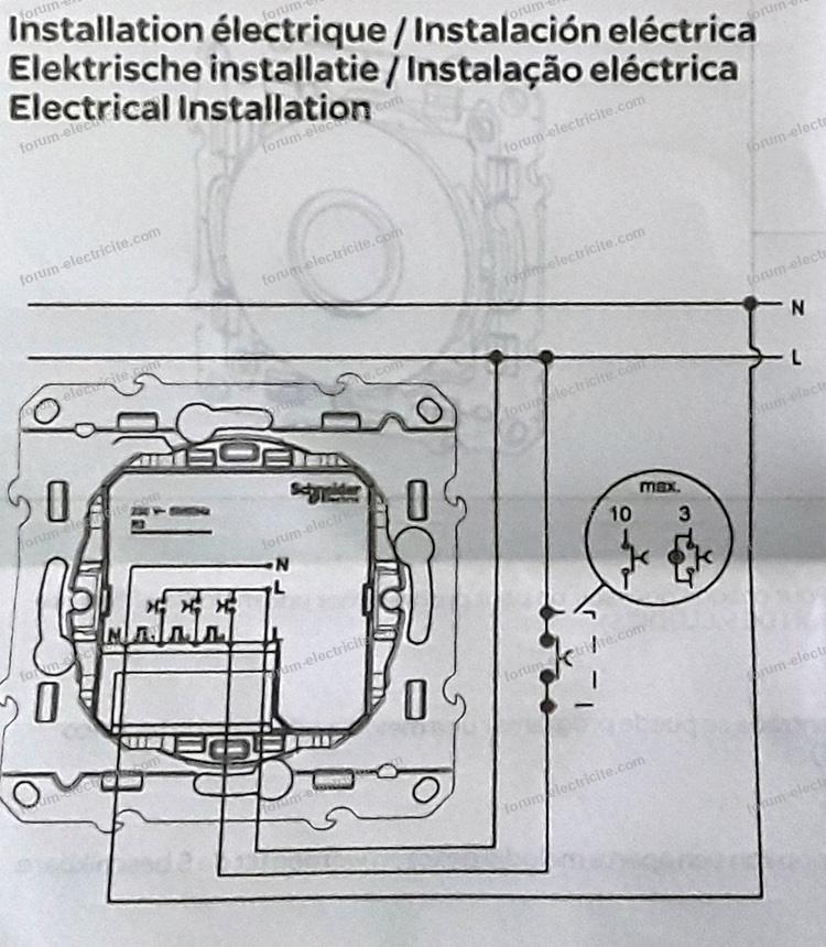 Forum électricité Branchement Carillon électronique Schneider