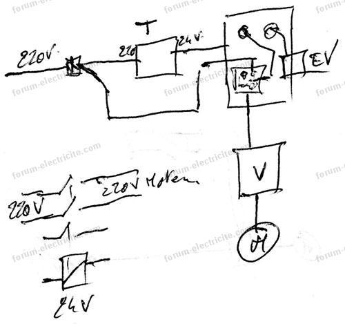 schéma branchement variateur de fréquences