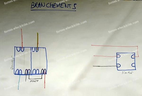 schéma branchements interrupteur