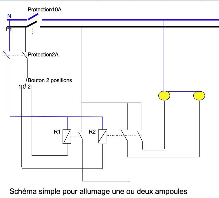 schema bricolage systeme eclairage