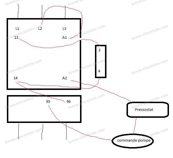 schéma câblage contacteur origine