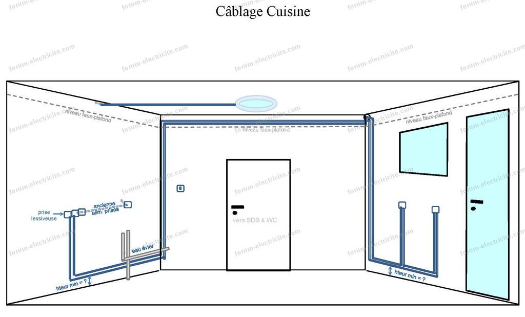 installation lectrique salle de bain salle d 39 eau of norme electricite cuisine. Black Bedroom Furniture Sets. Home Design Ideas