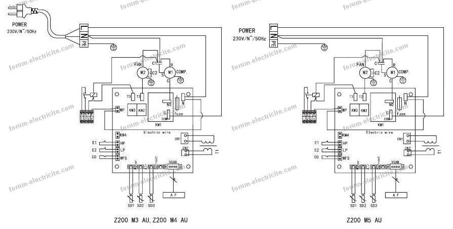 schéma câblage filtre PAC de piscine