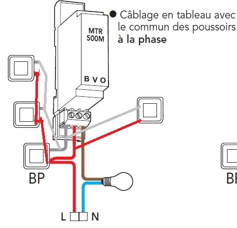 schema branchement telerupteur legrand 04163