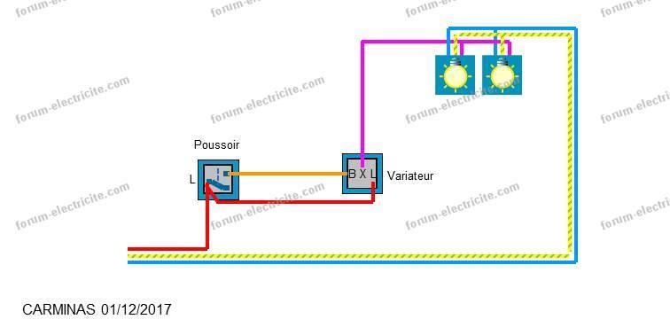 schéma câblage variateur