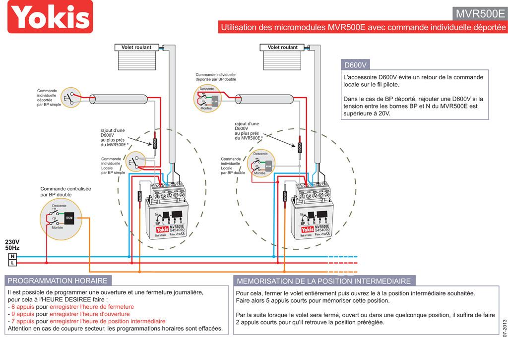 Commande centralise volet roulant filaire interesting pack domotique kit sans fil centralise - Centralisation volet roulant filaire ...