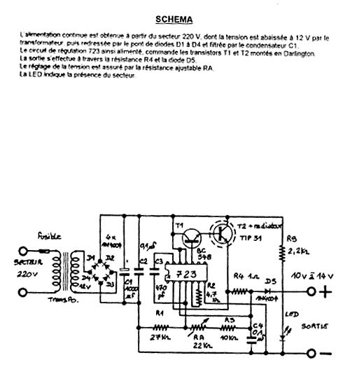 chargeur de batterie schéma