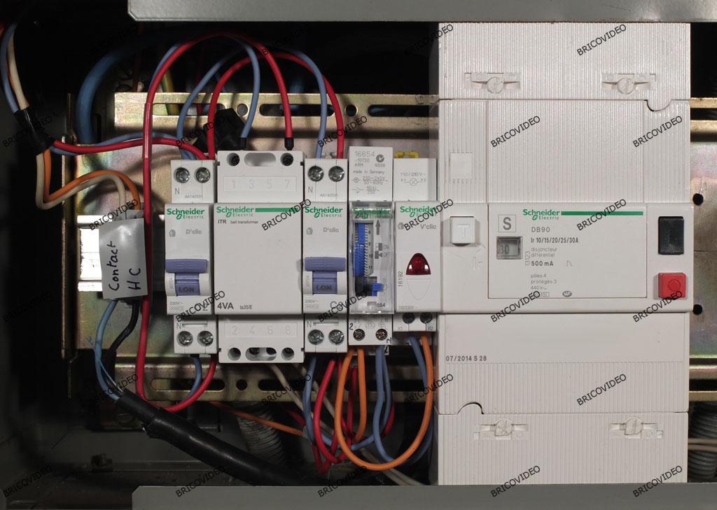câblage circuit chauffage tableau triphasé