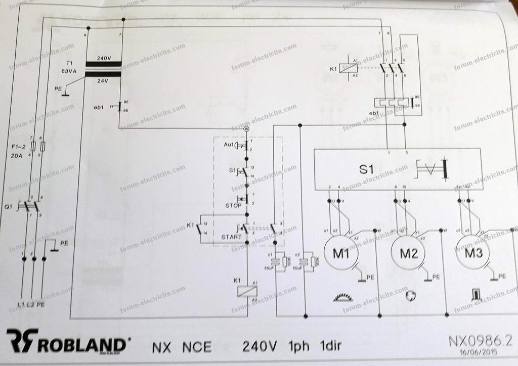 schéma combiné bois Robland