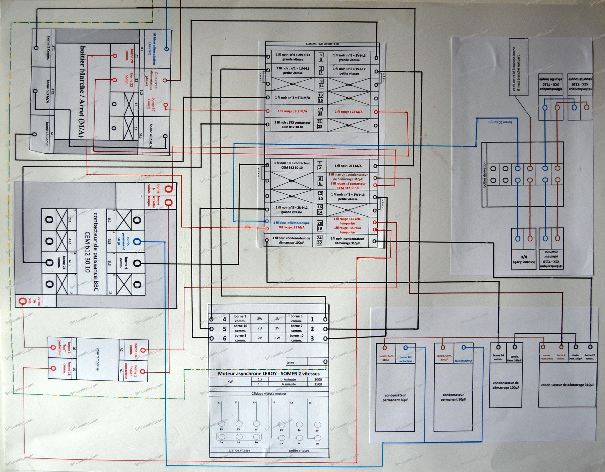 schéma électrique d'un combiné Lurem C26