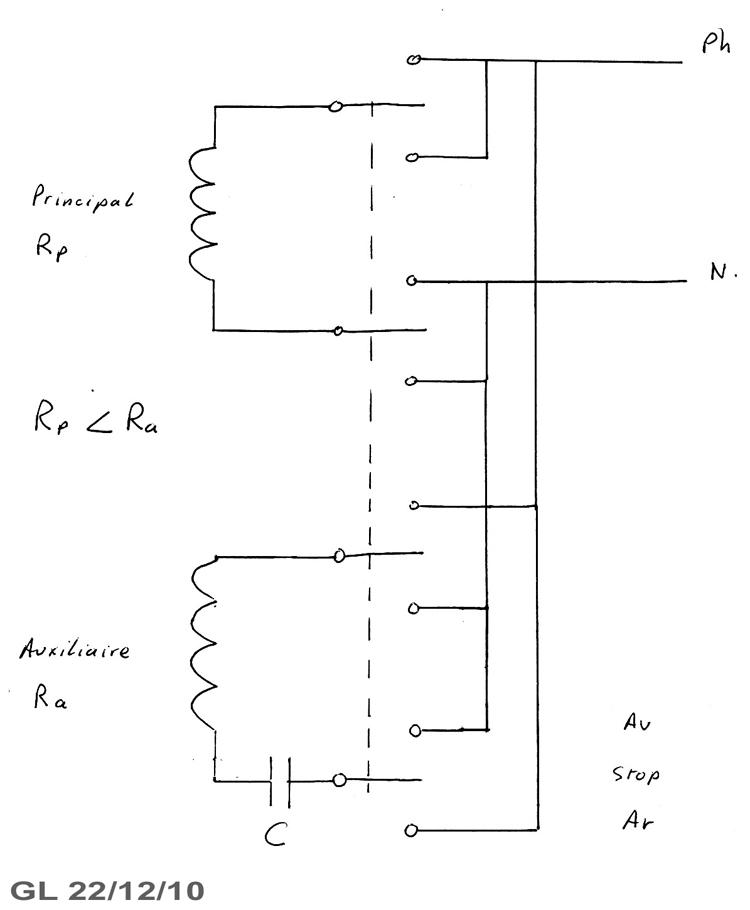 schéma commutateur moteur