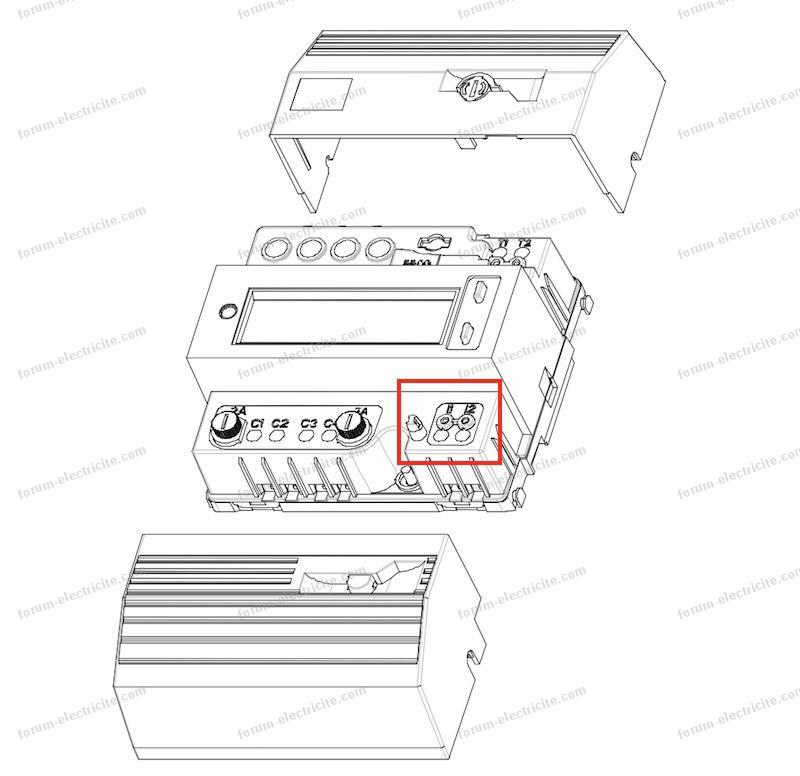 schéma compteur électronique monophasé