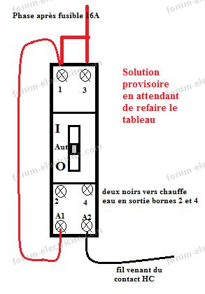 Remplacer contacteur jour nuit chauffe eau conseils branchement installation tableau lectrique - Comment changer un fusible sur un tableau electrique ...