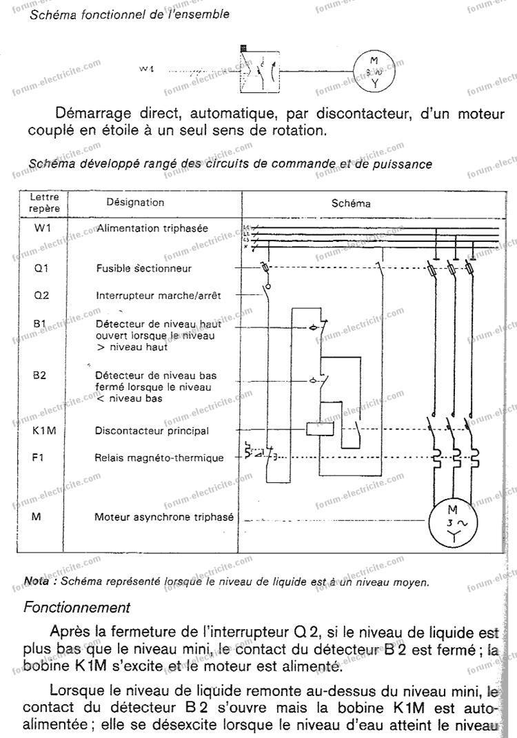 schéma contacteur relais thermique