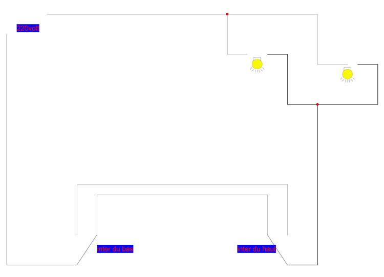 pb avec un interrupteur et un va e t vient. Black Bedroom Furniture Sets. Home Design Ideas