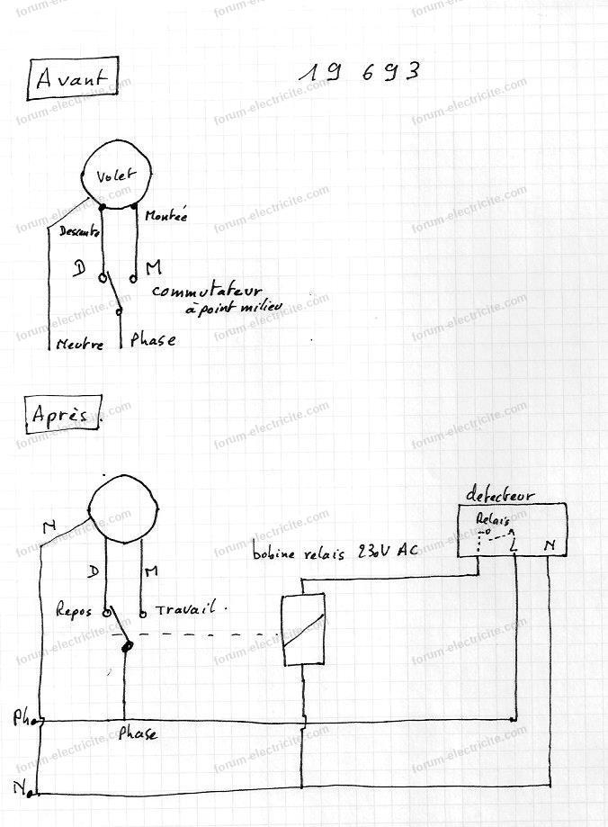 schéma détecteur crépusculaire pour volet roulant