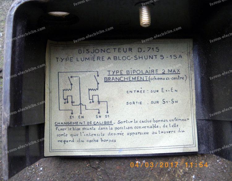 schéma disjoncteur de branchement D715