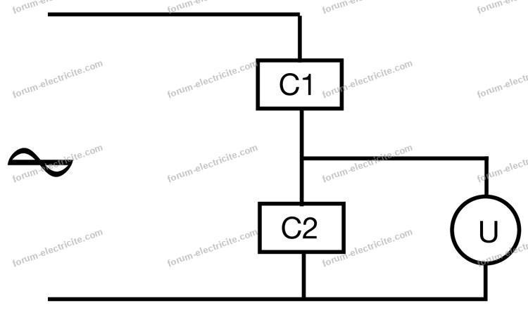schéma diviseur tension AC