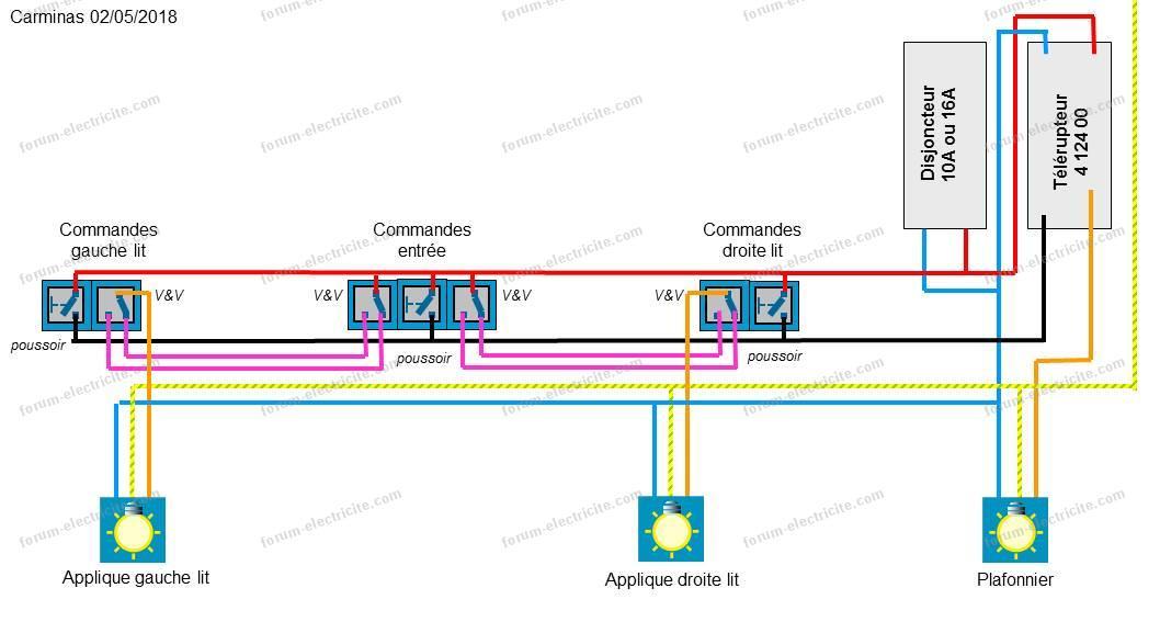 Forum lectricit aide pour sch ma lectrique clairage - Schema electrique eclairage ...